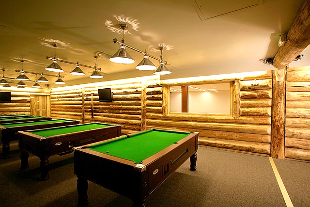 One of the billiard rooms